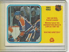 1982-83 OPC #240 WAYNE GRETZKY ASSIST LEADERS NICE CARD