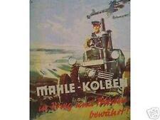 Älteres Blechschild Mahle Kolben Werbung Reklame Traktor III Reich gebraucht