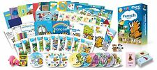 French for Kids Premium set, French learning DVDs, Books, Posters, Flashcards