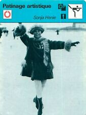 FICHE CARD : Sonja Henie NORWAY NORVÈGE Figure skating  Patinage artistique 70s