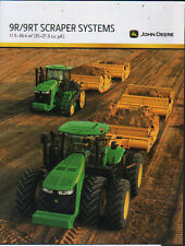 John Deere 9R and 9RT Tractor Scraper Systems Brochure Leaflet