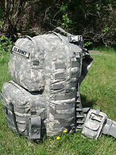FULLY LOADED US Army Military MOLLE II ACU Medium Rucksack Bag Sack GI USGI