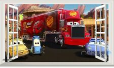 Disney Cars Mack Truck Hauler 3D Window Wall Stickers Removable Kids Decals Art