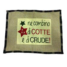 Tovaglietta in 100%cotone NE COMBINO DI COTTE E DI CRUDE COUNTRY STYLE 30X40cm