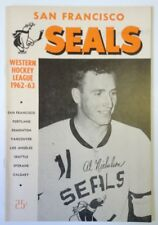1963 San Francisco Seals Vs Spokane Comets Hockey Program
