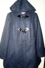"GEORGE UK Women's Faux Wool Hooded Toggle Duffle Coat Jacket ""NAVY"" Size 18 NWT"