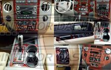 FORD EXPEDITION INTERIOR BURL WOOD DASH TRIM KIT SET 2010 2011 2012 2013 2014