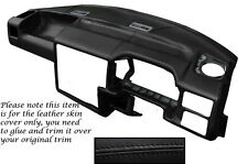 BLACK STITCH FITS VW T4 TRANSPORTER CARAVELLE CAMPER DASH DASHBOARD LTHR COVER