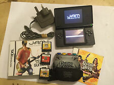 NINTENDO DS LITE DSL BLACK CONSOLE GUITAR GRIP +HERO ON TOUR +DECADES +JAM +ROCK