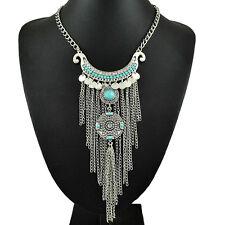 Top Sale Unique Tassel Thai Silver Vintage Ethnic Style Women's Necklaces