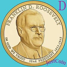 2014-D FRANKLIN ROOSEVELT PRESIDENTIAL GOLDEN DOLLAR FROM MINT ROLL UNCIRCULATED