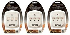 3 Of 3 AC Outlet Wall Mount Surge Protector Adapter with Dual USB Charging Port