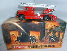 MATCHBOX DIECAST FIRE ENGINE YFE05 1932 MERCEDES BENZ LADDER TRUCK