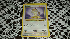 Meowth Pokemon Card COMMON [BASE SET 2]
