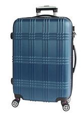 Reisekoffer Koffer Trolley Handgepäck Hartschalen Gr.M Blau ABS 4 Rollen A13B