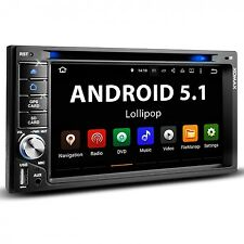 AUTORADIO ANDROID 5.1 NAVIGATION NAVI GPS BLUETOOTH DVD CD USB DAB+ 2DIN NEU