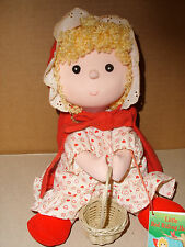 RUSS BERRIE PLUSH LITTLE RED RIDING HOOD DOLL WITH LITTLE STORY BOOK 10 IN