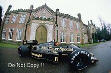 Johnny Dumfries JPS Lotus 98T F1 Portrait 1986 Photograph