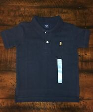 New Baby Gap Short Sleeve Navy Blue Collared Top,Toddler Boys Size 12-18 Months