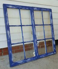 VINTAGE SASH ANTIQUE WOOD WINDOW UNIQUE FRAME PINTEREST WEDDING SET BLUE 32X19