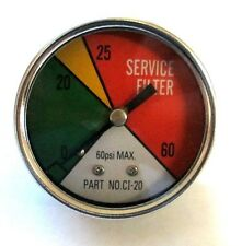 "ZA CI-20 - Zinga Color Indicator Gauge 1/8"" MPT Rear Mount (Shows when filter ne"