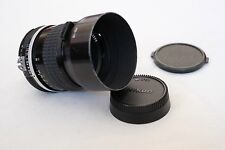 Nikon 85mm f/1.8 Lens AI - Good Condition Manual Focus Fast Prime + HS10 Hood