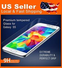 Tempered Glass Screen Protector for Samsung GalaxyS5 9H Highly Scratch Resistant
