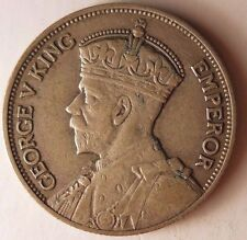 1934 NEW ZEALAND FLORIN - Great Low Mintage Silver Coin - FREE SHIPPING #HV2