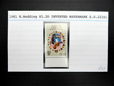 PITCAIRN ISLAND 1981 Royal Wedding $1.20 Inverted/WMK Variety SEE BELOW FP7336