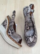 new NEXT wedge sandals, size 6.5 UK  women's  snake Pattern shoes