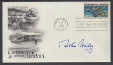 Arthur Hailey, Author, signed Commercial Aviation 50th Anniversary FDC