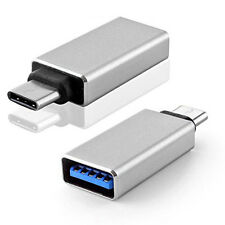 USB Type-C 3.1 Male to USB 3.0 Female Connector Aluminum Alloy Adapter - Silver