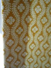 "89"" Pierre Deux Yellow Ochre Gold Chloe Fleur Drape Panel Fully Lined w/Weights"