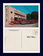 NEW YORK YORKTOWN HEIGHTS ENGINE COMPANY 1 FIRE ENGINES & FORD SEDAN CIRCA 1956