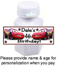 30 Cars Lightning McQueen Birthday Party Or Baby Shower Mini Bubbles Stickers