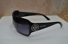 Rare Authentic Vintage Gucci Logos Black Sunglasses Made in Italy