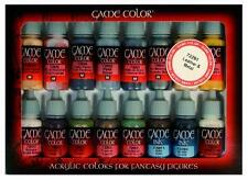 Vallejo Game Colour Set  Leather and Metal (x16) # 72291