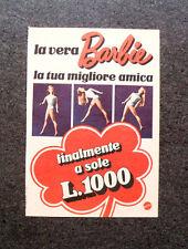 K654-Advertising Pubblicità-1973- BARBIE , LA TUA MIGLIORE AMICA