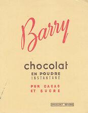 """Buvard Vintage """" Chocolat en Poudre Barry """""""