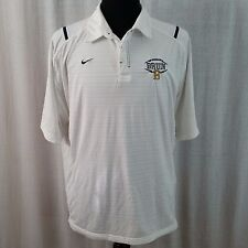 UCLA Bruins Nike Team NCAA Football Polo Shirt White Blue XL College SC Dry Fit