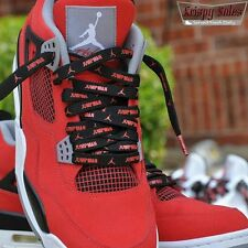 Luxury Jumpman flight laces air jordan 4 cement toro bred space jam red black