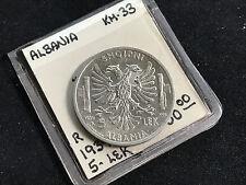 1939 R ALBANIA 5 LEK KM 33 AU