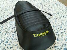 TRIUMPH T120 TR6 T100 1967 1O 1970  MODEL SEAT COVER WITH STRAP  (T1)