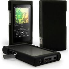 Schwarz Silikon Gel Etui Tasche für Sony Walkman NW-A35 Schutz Hülle Case Cover
