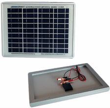 Pannello solare Jarrett 12V - 10W + pinze corrente.Impianto fotovoltaico sole