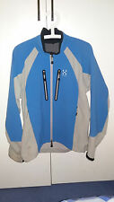Haglofs Softshell Jacket Mens Medium Blue and White RRP £125