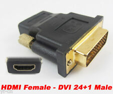 1pc HDMI Female to DVI-D Male 24+1 Pin DVI F/M Gold Plated Converter Adapter
