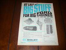 1968 SHELBY PARTS FORD  ***ORIGINAL VINTAGE AD***