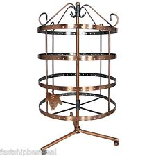 Jewelry Organizer Holder Earring Tree Display Rotating Storage Rack Stand Tower