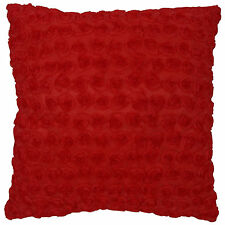 New Red Little Rose Ribbon 3D Raised Decorative Throw Pillow Case Cushion Cover
